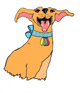 Libby cartoon with bow